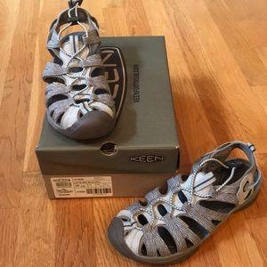 Keen Whisper Sandal Agate Grey & Blue Opal Sz 7.5